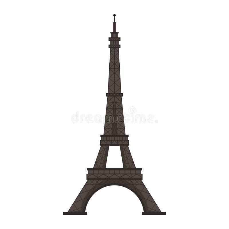 Illustration de vecteur d'isolement par monument de Paris de Tour Eiffel illustration de vecteur