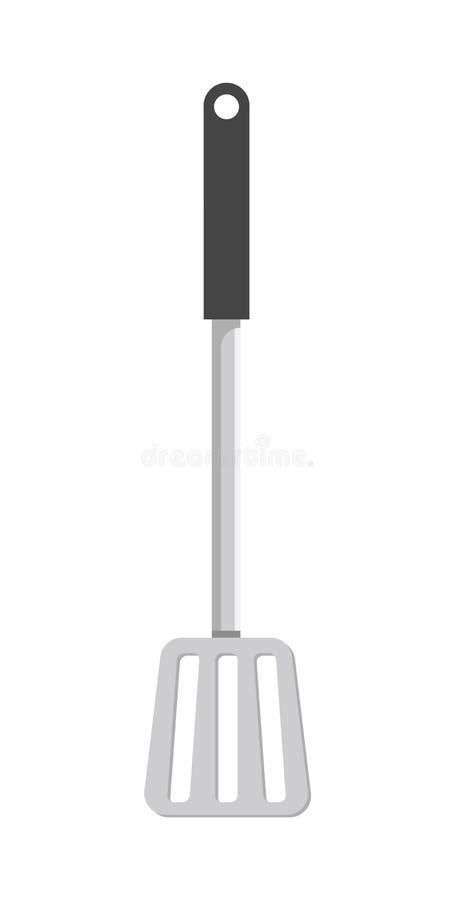 Illustration de vecteur d'objet de vaisselle de cuisine de spatule illustration libre de droits