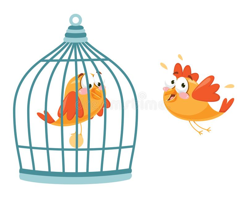 Illustration de vecteur d'oiseau illustration stock