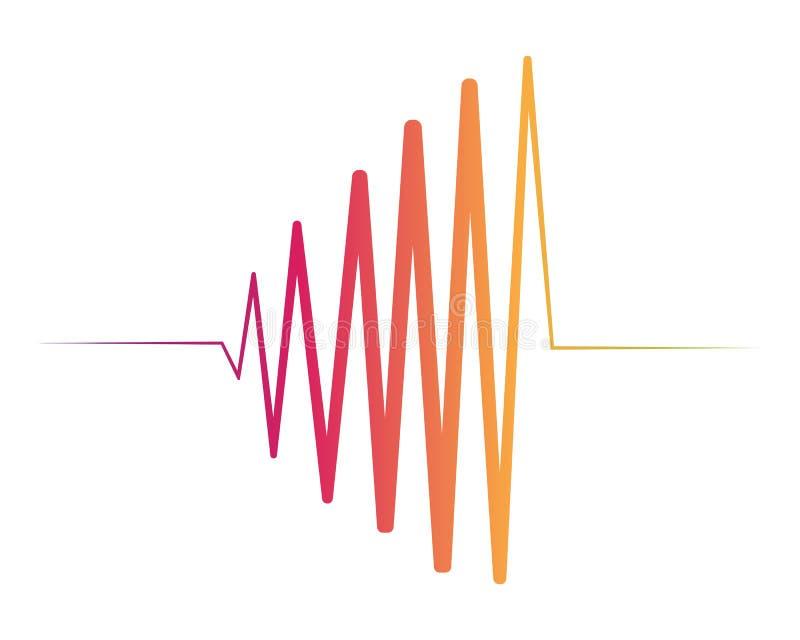 Illustration de vecteur d'ondes sonores illustration libre de droits