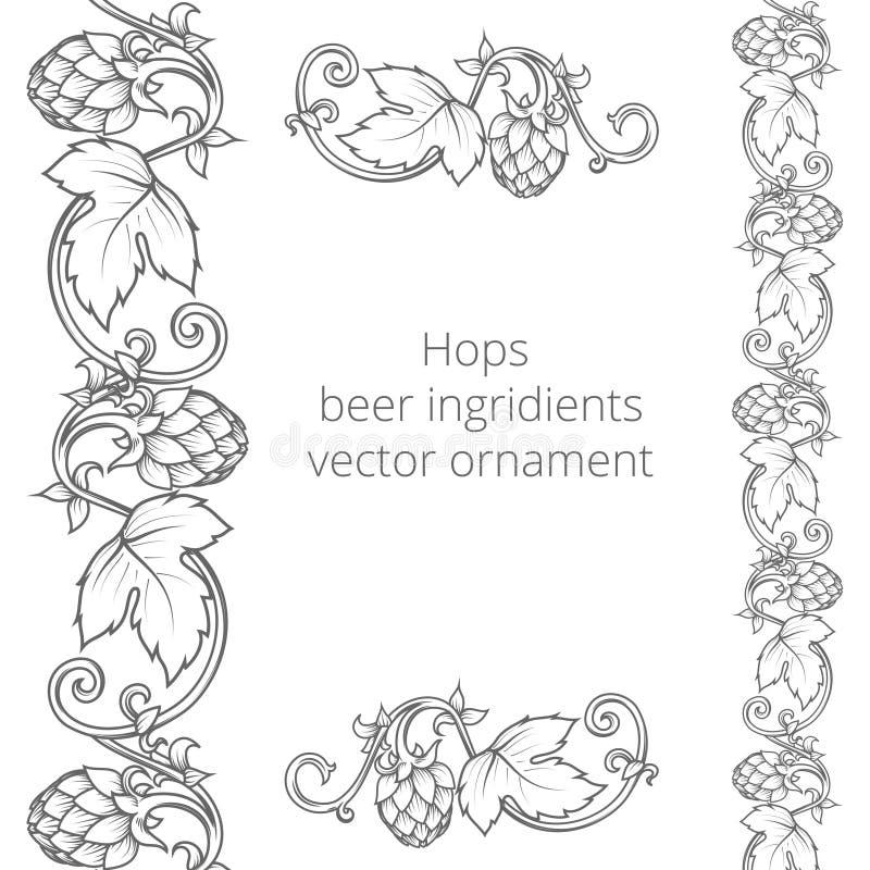 Illustration de vecteur d'ornement d'houblon illustration stock