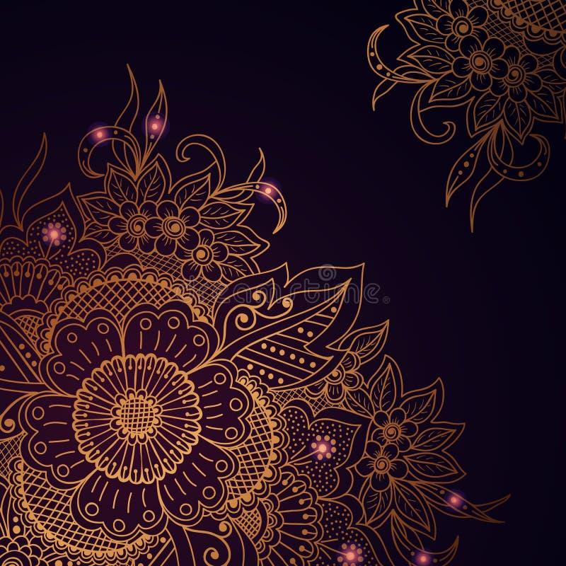 Illustration de vecteur d'ornement de mehndi illustration stock