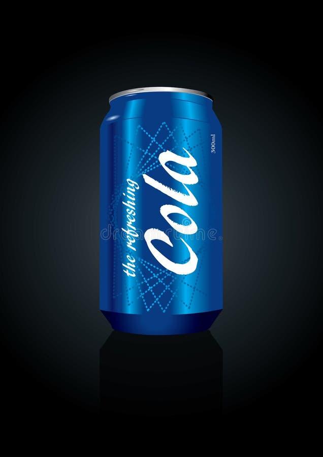 Illustration de vecteur d'un bidon de kola illustration stock