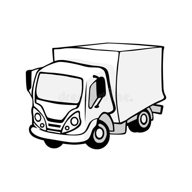 Illustration de vecteur d'un camion illustration stock
