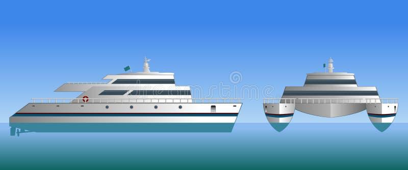 Illustration de vecteur d'un catamaran illustration libre de droits