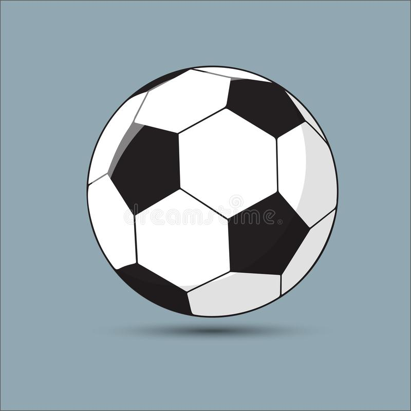 Illustration de vecteur d'un football, ballon de football illustration de vecteur