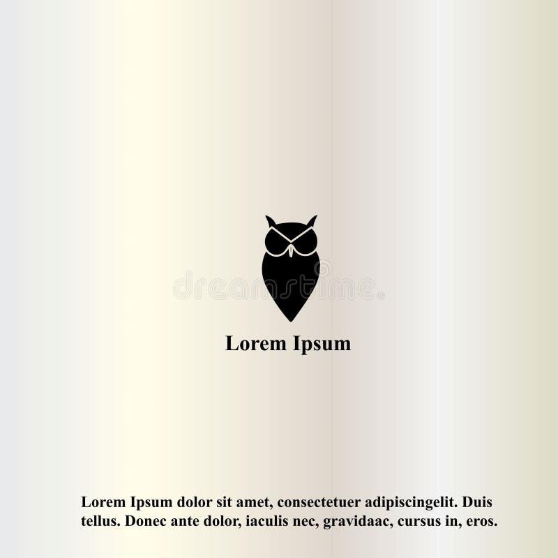Illustration de vecteur d'un hibou dans un style minimaliste illustration de vecteur