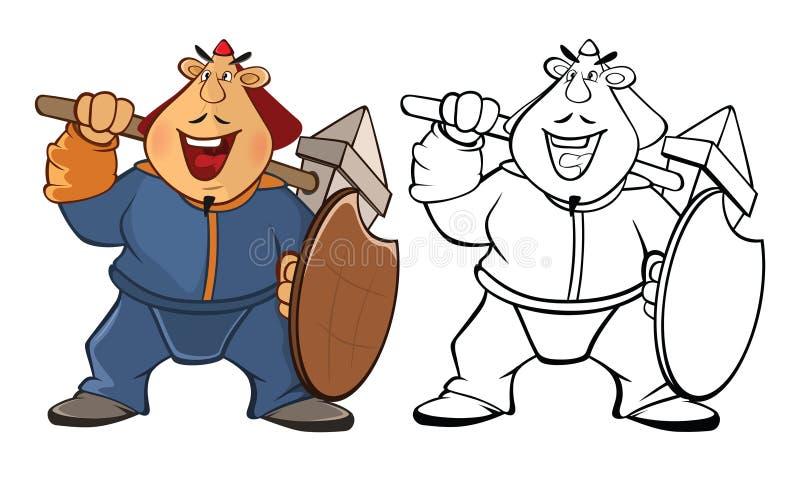 """Illustration de vecteur d'un soldat Mongol Bande dessinée Ð """"Ð?Ð de livre de coloriage·† DU ‹Ð¸Ì DU ½ Ñ DU ½ Ð DU  Ð DU ¼ Ñ DU ‹ illustration de vecteur"""