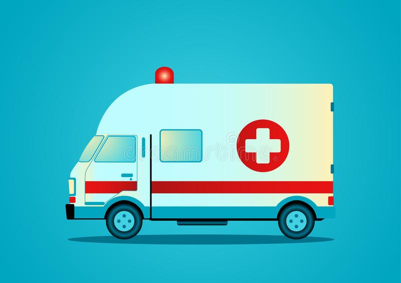 Illustration de vecteur d'une ambulance illustration stock