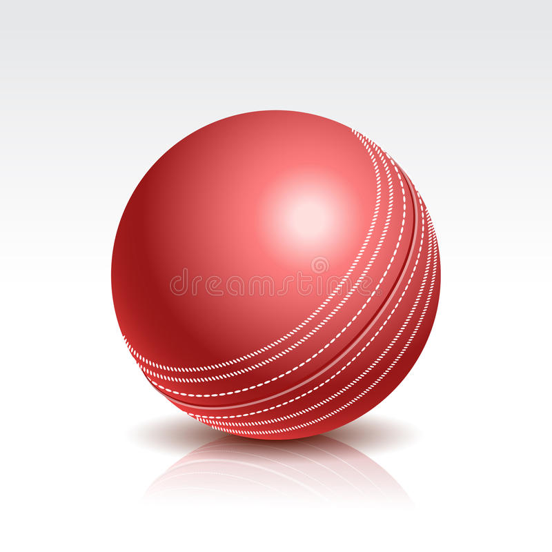 Illustration de vecteur d'une boule de cricket illustration de vecteur