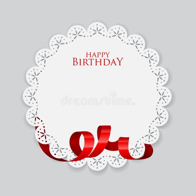 Illustration de vecteur d'une carte d'anniversaire photo libre de droits