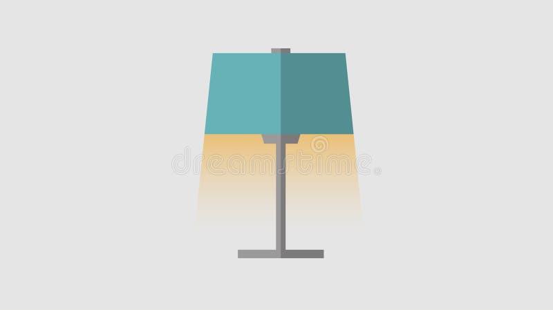 Illustration de vecteur d'une lampe de table Branché illustration stock