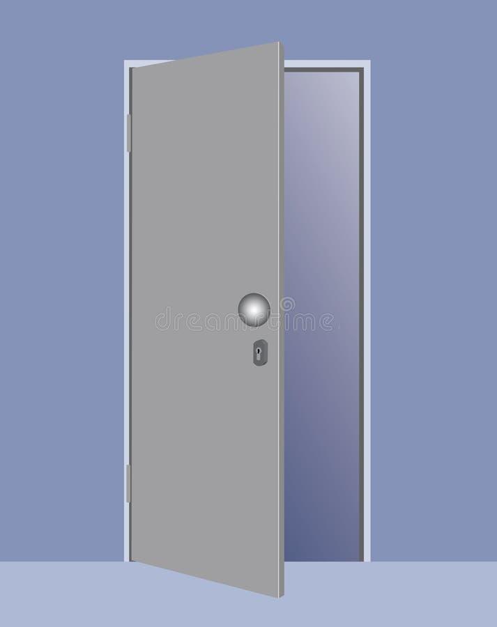 illustration de vecteur d 39 une porte ouverte illustration. Black Bedroom Furniture Sets. Home Design Ideas