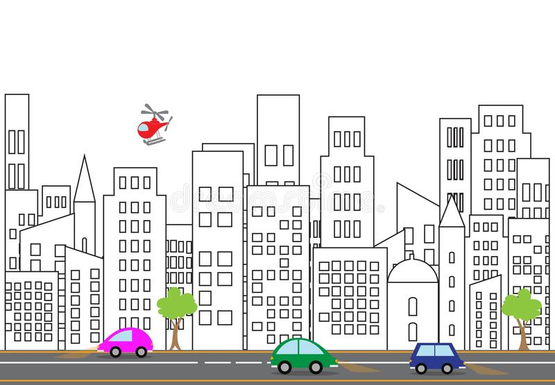 Illustration de vecteur d'une rue de ville illustration de vecteur