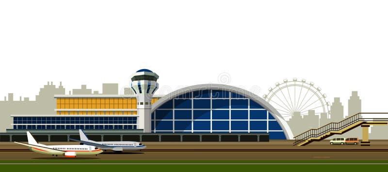 Illustration de vecteur de bâtiment d'aéroport illustration libre de droits