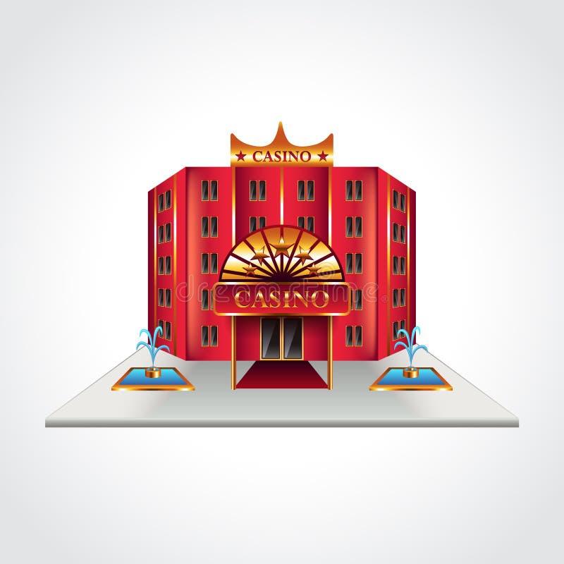 Illustration de vecteur de bâtiment de casino illustration stock