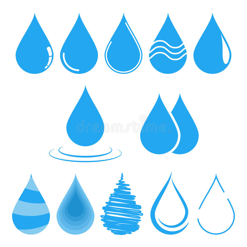 Illustration de vecteur de baisse de l'eau Calibre pour la conception de logo illustration de vecteur
