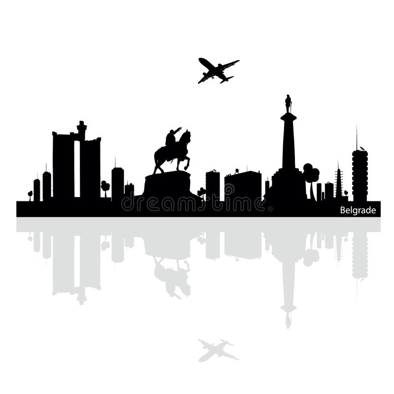 Illustration de vecteur de Belgrade illustration de vecteur
