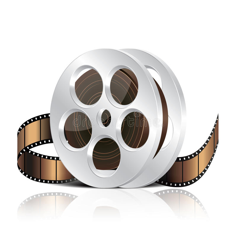 Illustration de vecteur de bobine de film illustration de vecteur