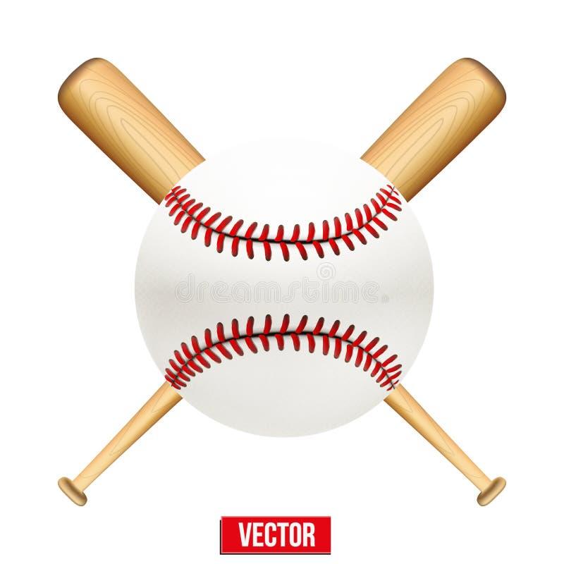 Illustration de vecteur de boule de cuir de base-ball et illustration de vecteur