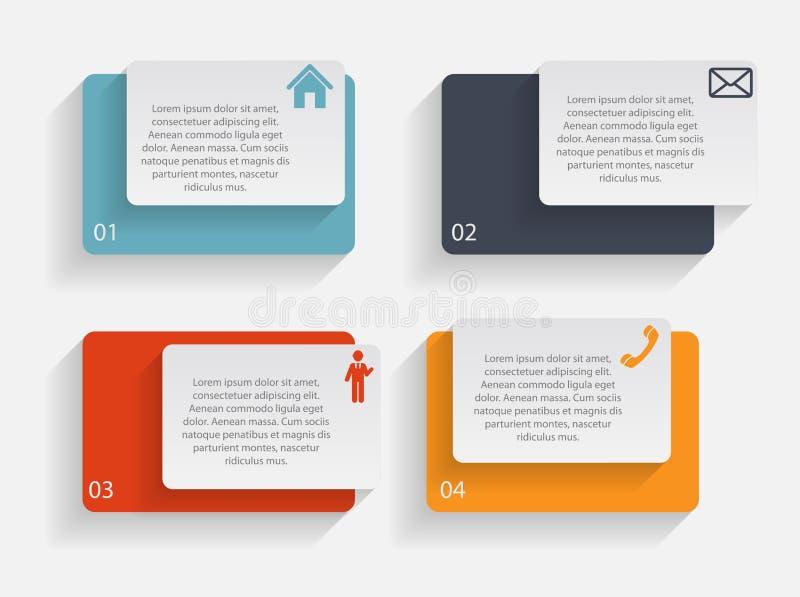 Illustration de vecteur de calibre d'affaires d'Infographic illustration de vecteur