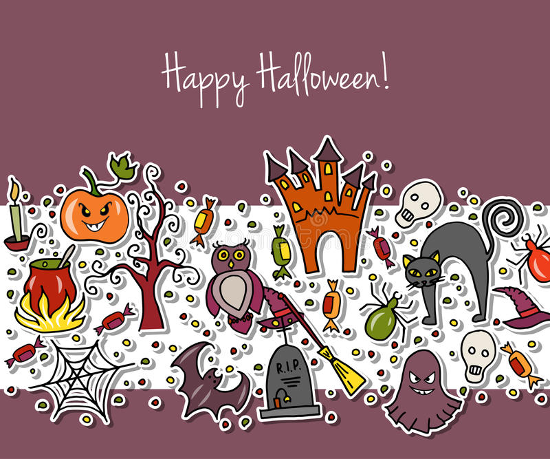 Illustration de vecteur de calibre pour la partie de Halloween illustration stock