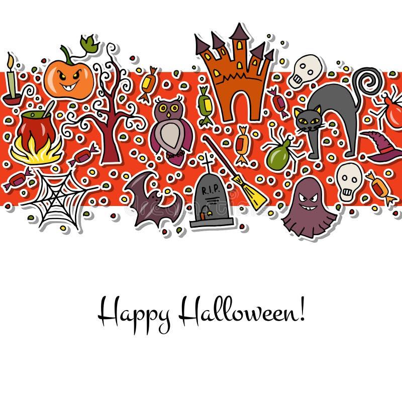Illustration de vecteur de calibre pour la partie de Halloween illustration de vecteur