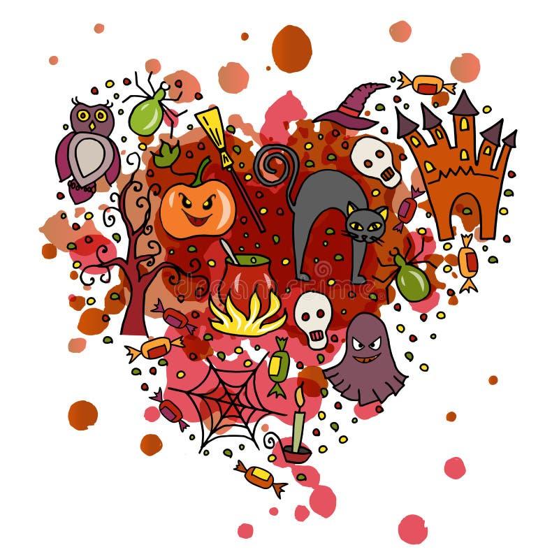 Illustration de vecteur de calibre pour la partie de Halloween illustration libre de droits