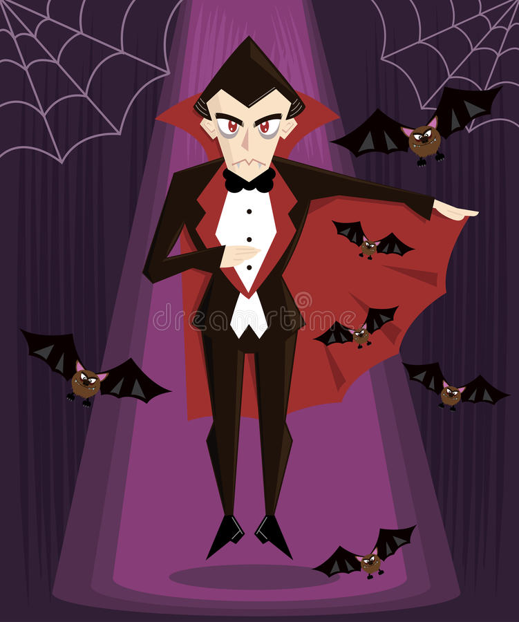 Illustration de vecteur de caractère de Dracula veille de la toussaint illustration stock
