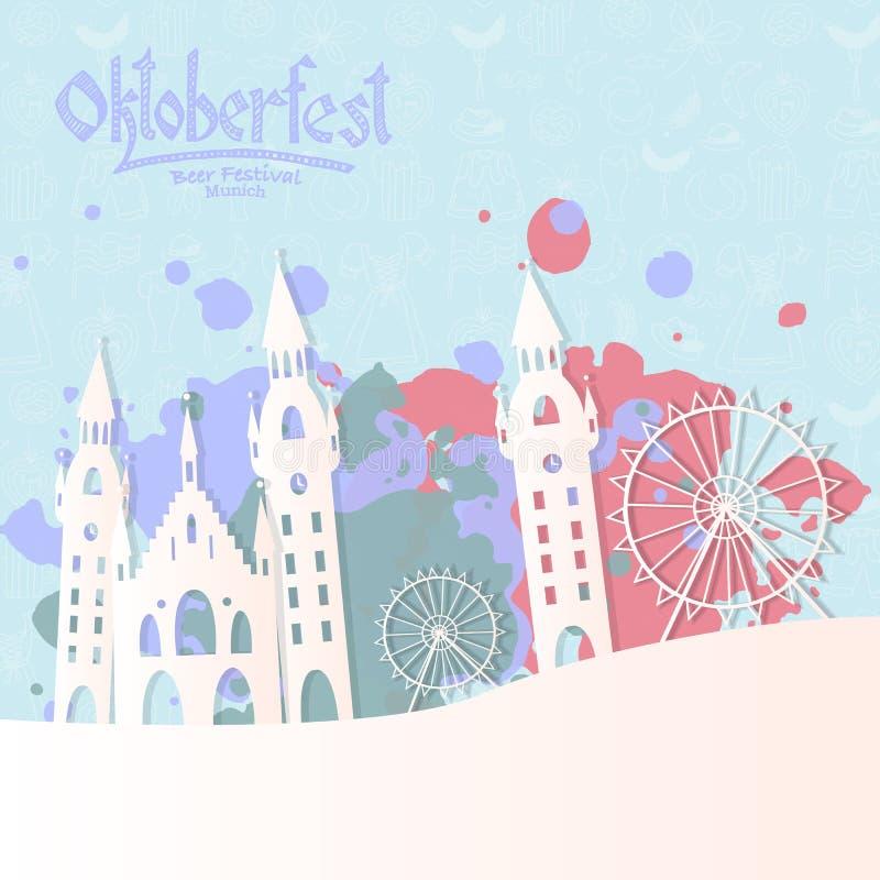 Illustration de vecteur de carte d'Oktoberfest illustration libre de droits