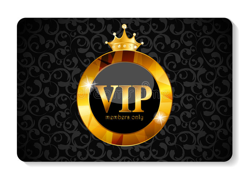 Illustration de vecteur de carte de membres de VIP illustration stock