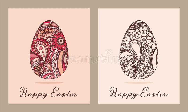Illustration de vecteur de carte de voeux de Pâques photo libre de droits