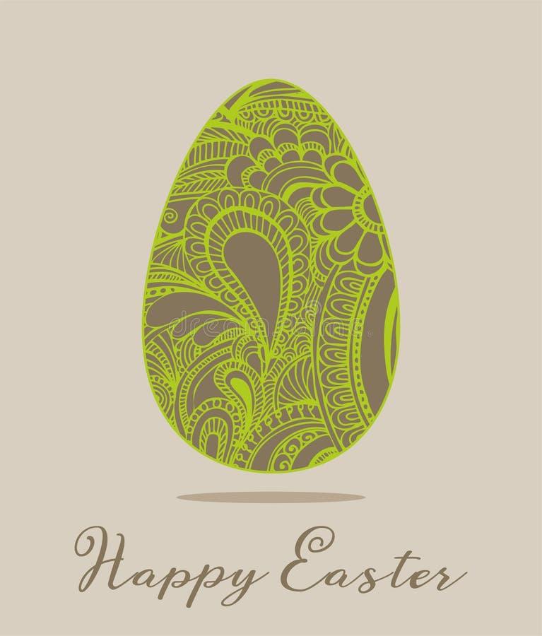 Illustration de vecteur de carte de voeux de Pâques images libres de droits