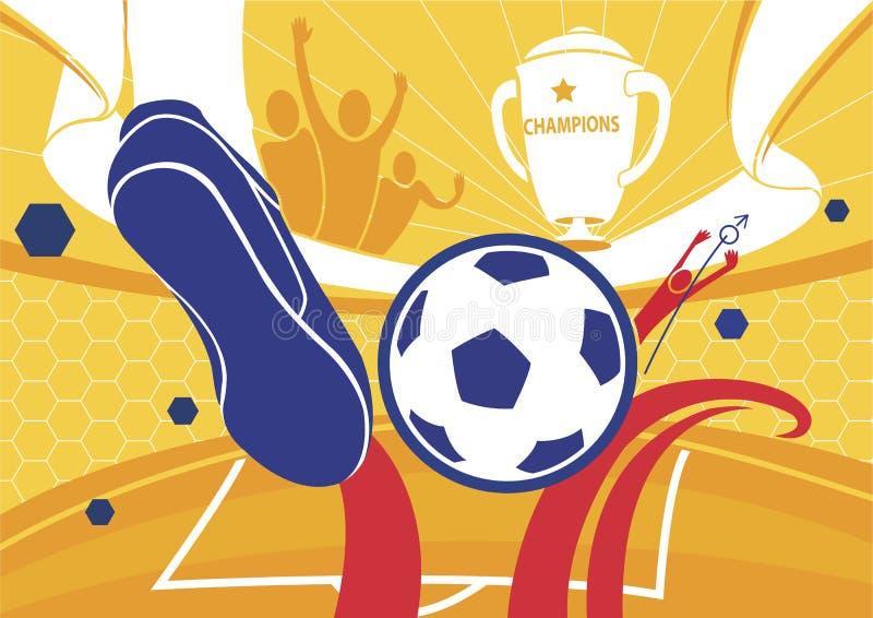 Illustration de vecteur de championnat de fond du football du football illustration de vecteur