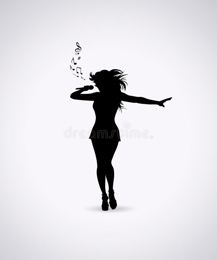 Chanteuse illustration stock