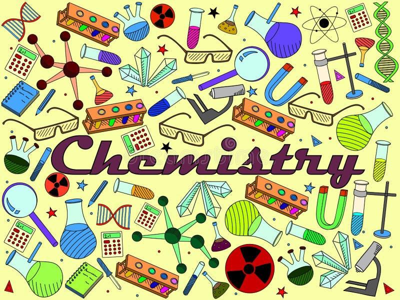 Illustration de vecteur de chimie illustration stock
