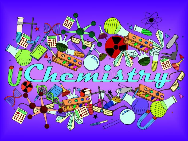 Illustration de vecteur de chimie illustration libre de droits