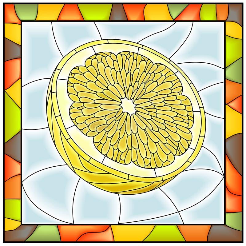 Illustration de vecteur de citron de jaune de fruit. illustration de vecteur