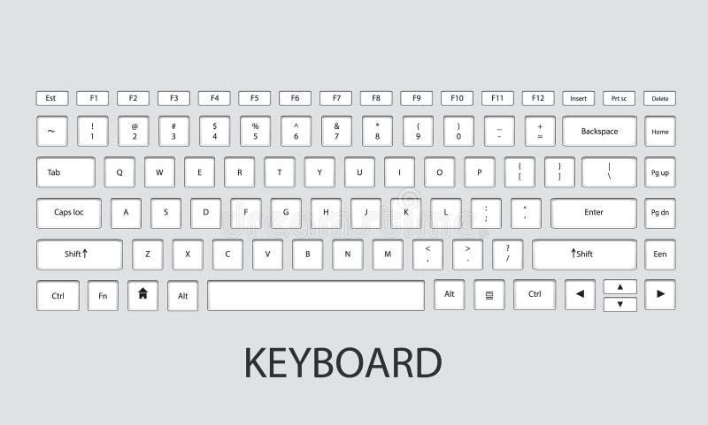 Illustration de vecteur de clavier images libres de droits