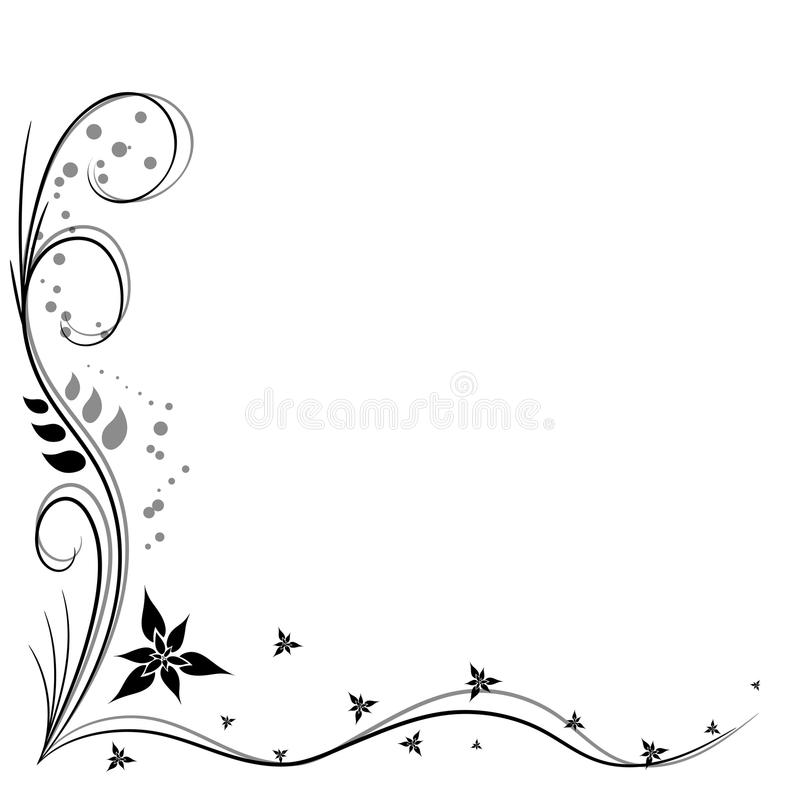 Illustration de vecteur de coin décoratif photo libre de droits