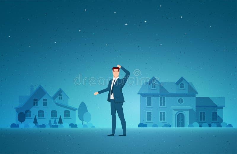 Illustration de vecteur de concept d'immobiliers illustration libre de droits