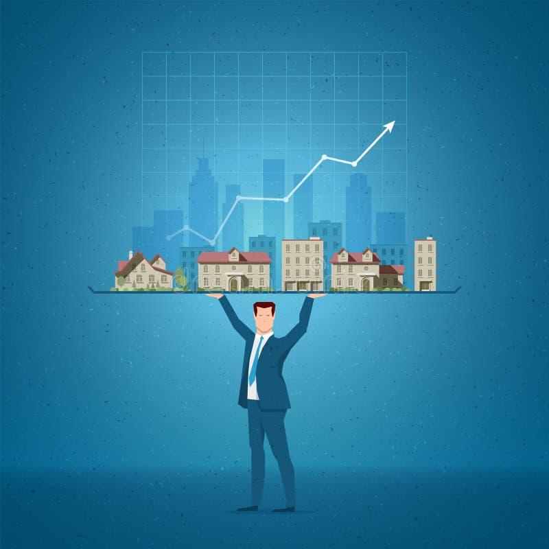 Illustration de vecteur de concept d'immobiliers illustration stock