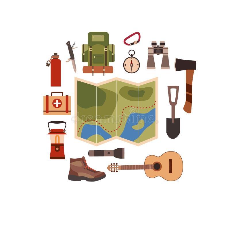 Illustration de vecteur de concept de camping illustration stock