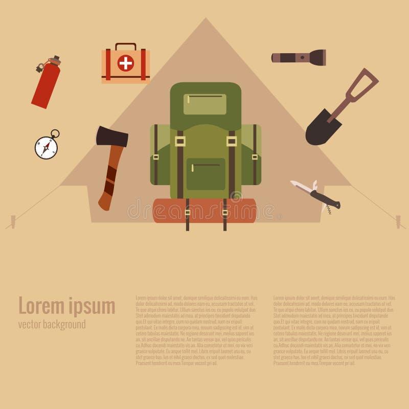 Illustration de vecteur de concept de camping illustration de vecteur
