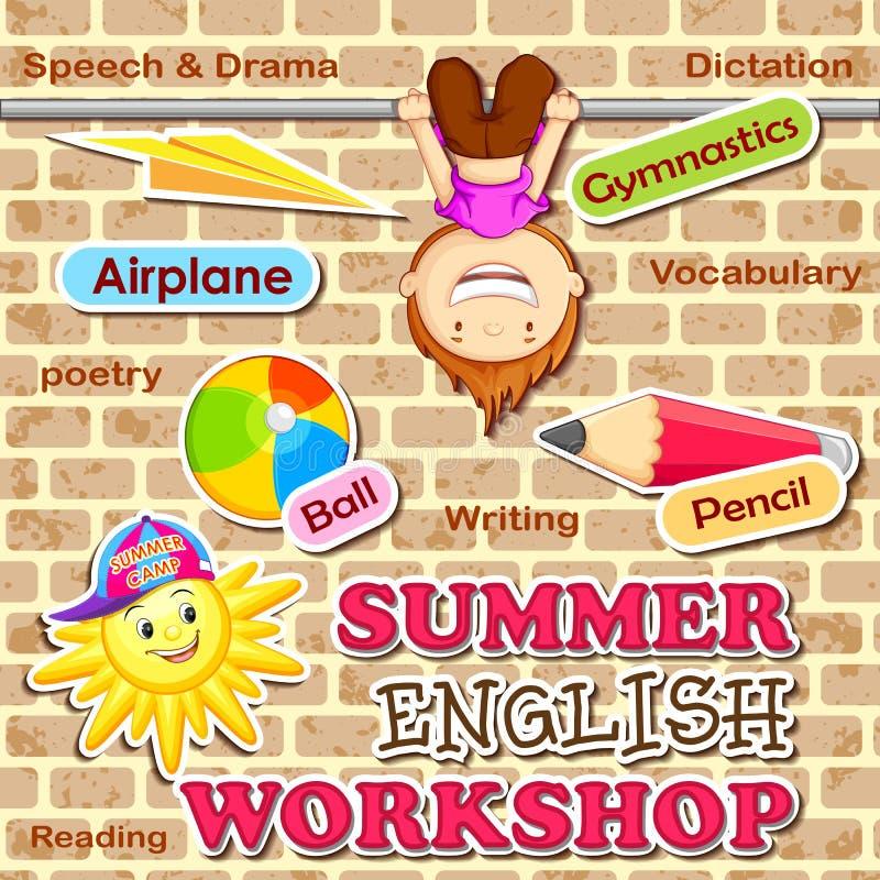 Atelier de l'anglais d'été illustration stock
