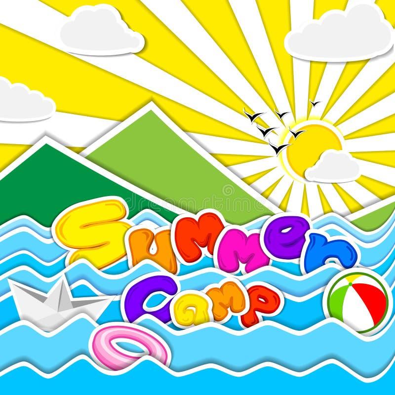 Affiche de colonie de vacances illustration stock