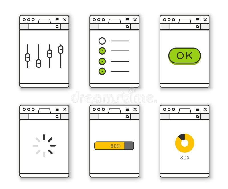 Illustration de vecteur de constructeur de site Web illustration stock
