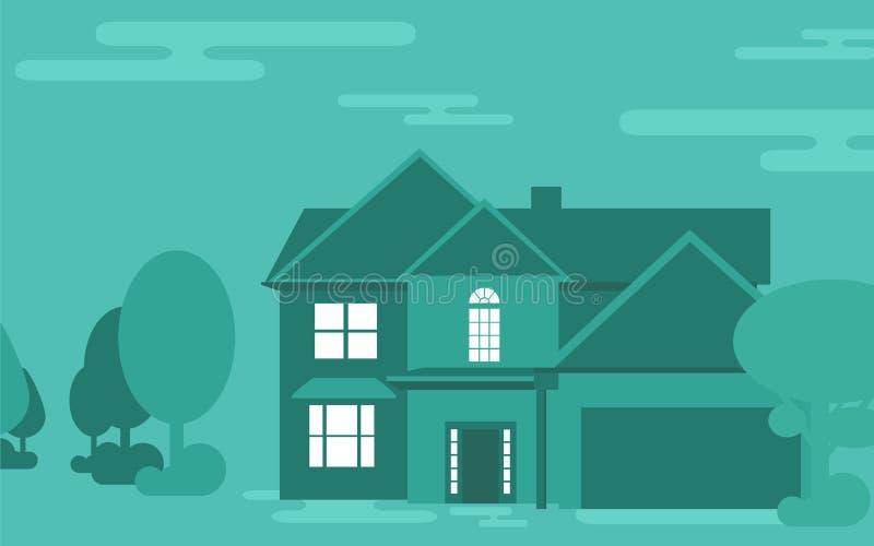 Illustration de vecteur de construction de logements de famille illustration libre de droits