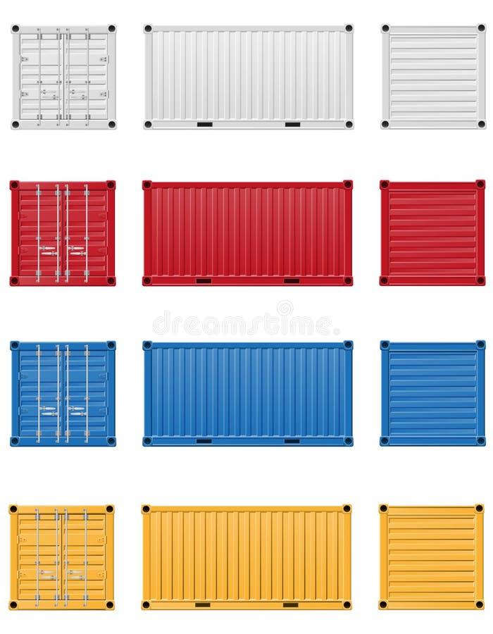 Illustration de vecteur de conteneur de cargaison illustration libre de droits