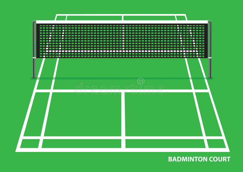Illustration de vecteur de cour de badminton illustration stock